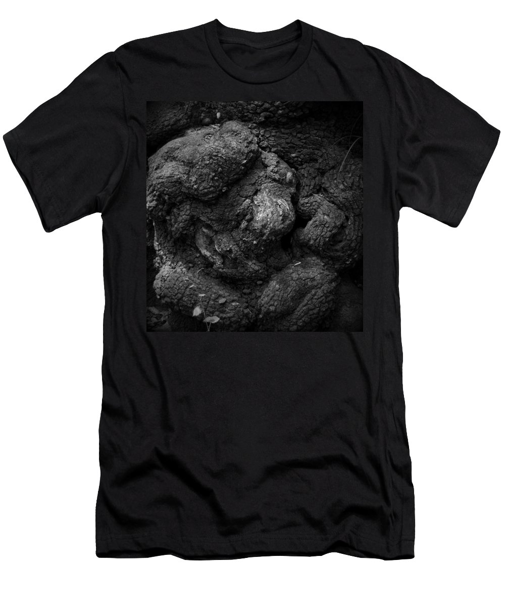 Black Men's T-Shirt (Athletic Fit) featuring the photograph Gnarled Number 2 by Phil Penne