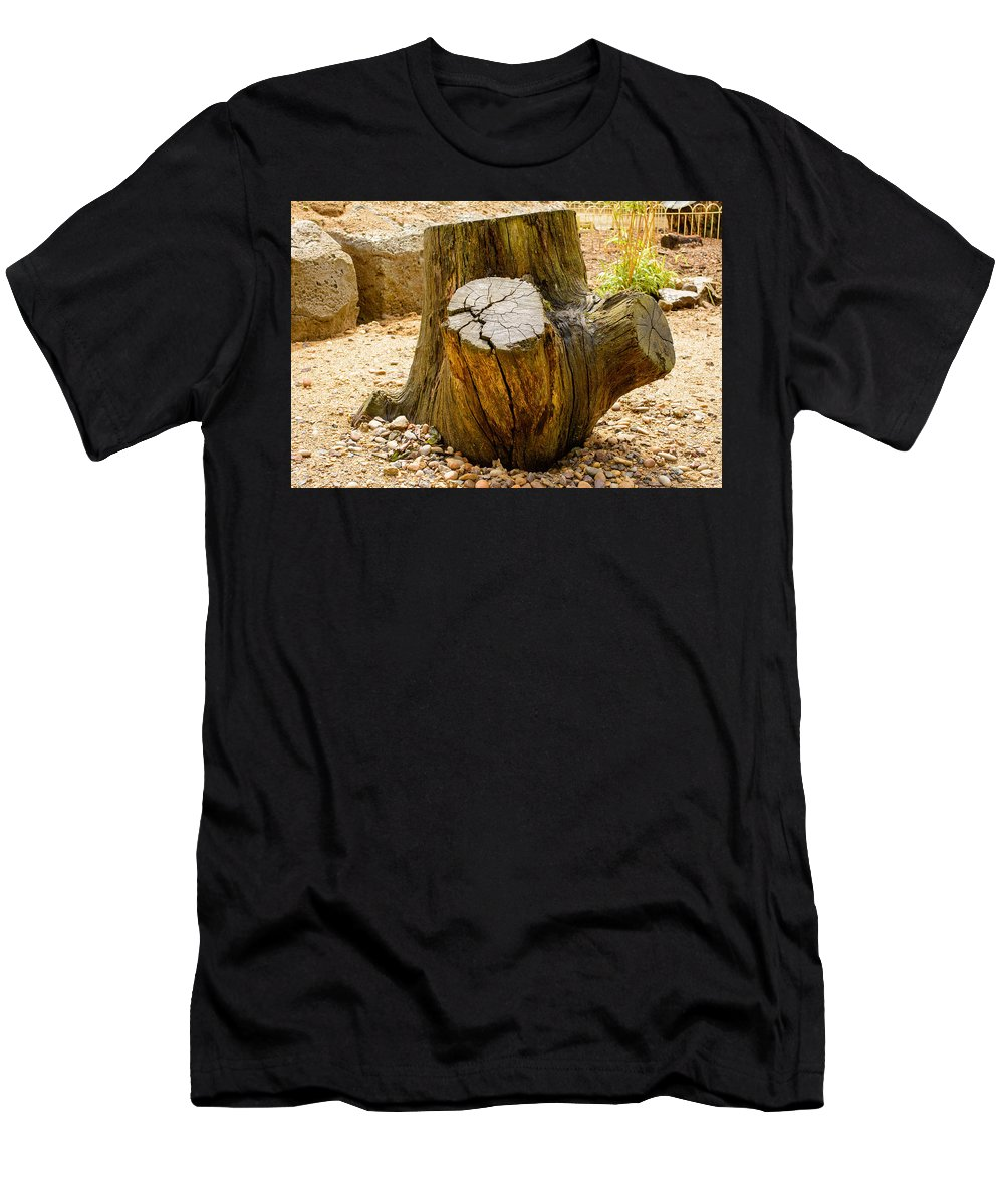 Tree Men's T-Shirt (Athletic Fit) featuring the photograph Gnarly Stump by Mair Hunt