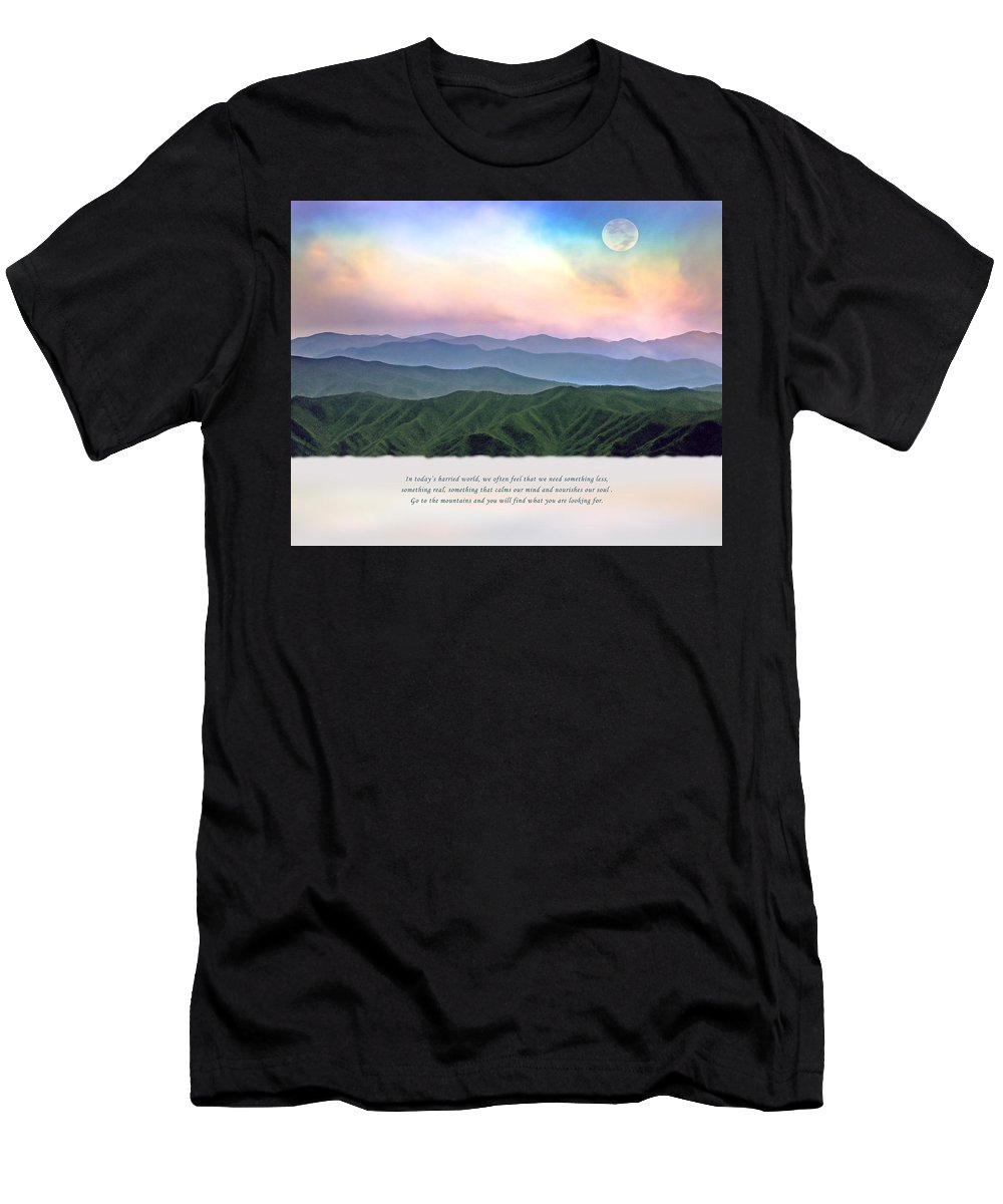 Smoky Mountains Men's T-Shirt (Athletic Fit) featuring the photograph Go To The Mountains by Stephen Warren