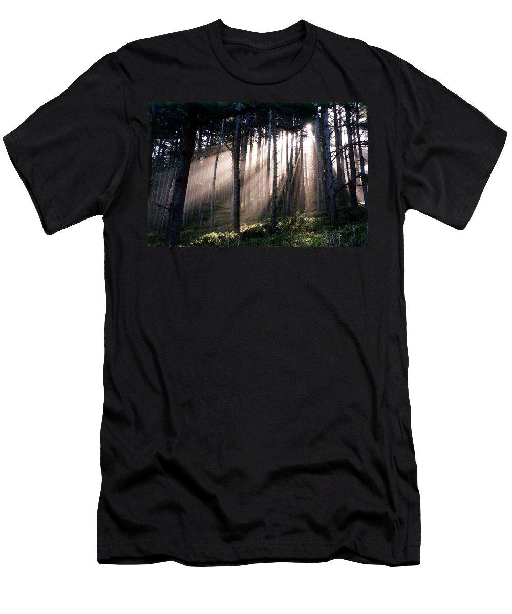 Sunbeams Men's T-Shirt (Athletic Fit) featuring the photograph God Light by Loren McNamara