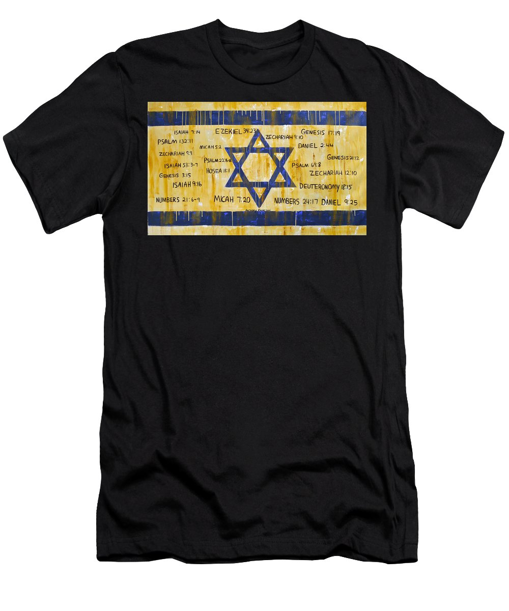 Israel Men's T-Shirt (Athletic Fit) featuring the painting Gods Love For Israel by Anthony Falbo