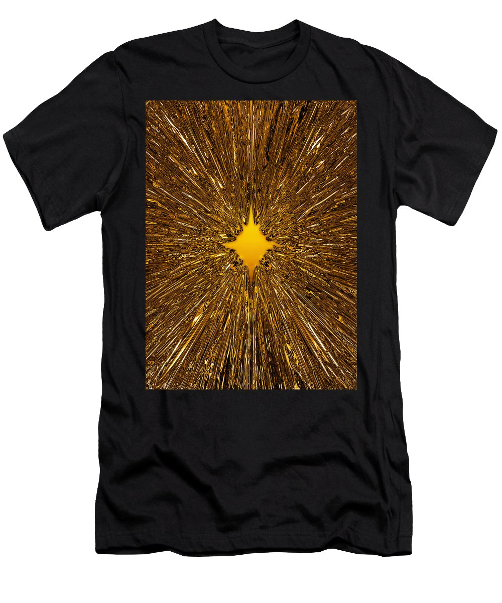 Background Men's T-Shirt (Athletic Fit) featuring the digital art Gold Star by Steve Ball
