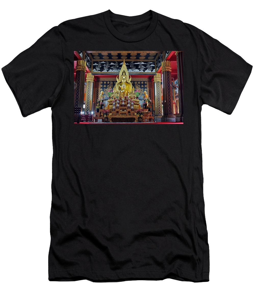 3scape Men's T-Shirt (Athletic Fit) featuring the photograph Golden Buddha by Adam Romanowicz