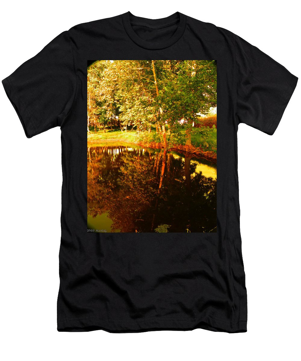 Filtered Men's T-Shirt (Athletic Fit) featuring the photograph Golden Pond 4 by Nick Kirby