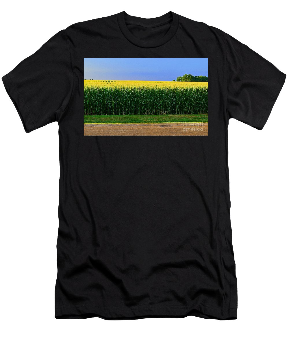 Logo Men's T-Shirt (Athletic Fit) featuring the photograph Golden Waves Of Grain by Luther Fine Art
