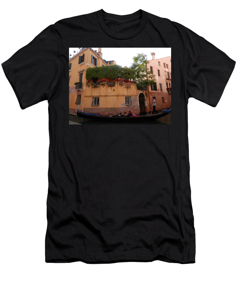 Gondola Men's T-Shirt (Athletic Fit) featuring the photograph Gondola Ride 1 by Pema Hou