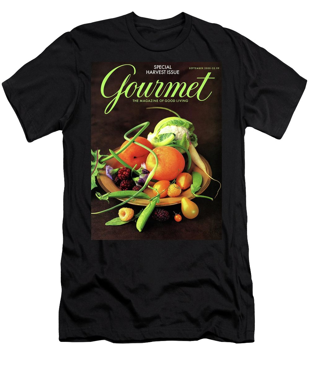 Food Men's T-Shirt (Athletic Fit) featuring the photograph Gourmet Cover Featuring A Variety Of Fruit by Romulo Yanes