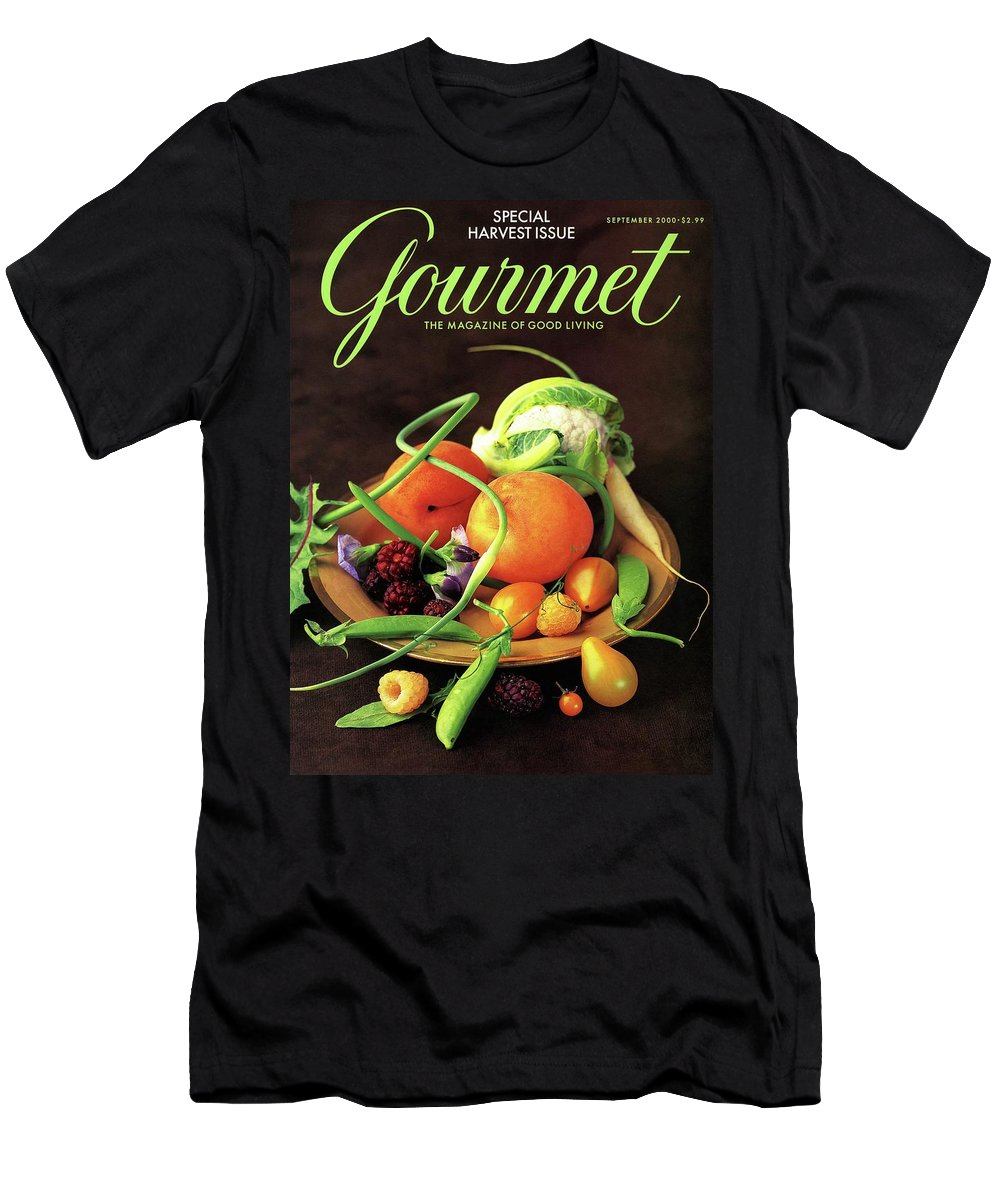 Food T-Shirt featuring the photograph Gourmet Cover Featuring A Variety Of Fruit by Romulo Yanes