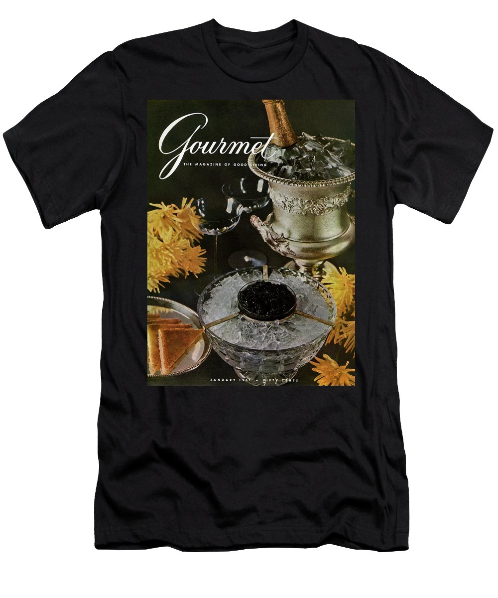 Food Men's T-Shirt (Athletic Fit) featuring the photograph Gourmet Cover Featuring A Wine Cooler by Arthur Palmer