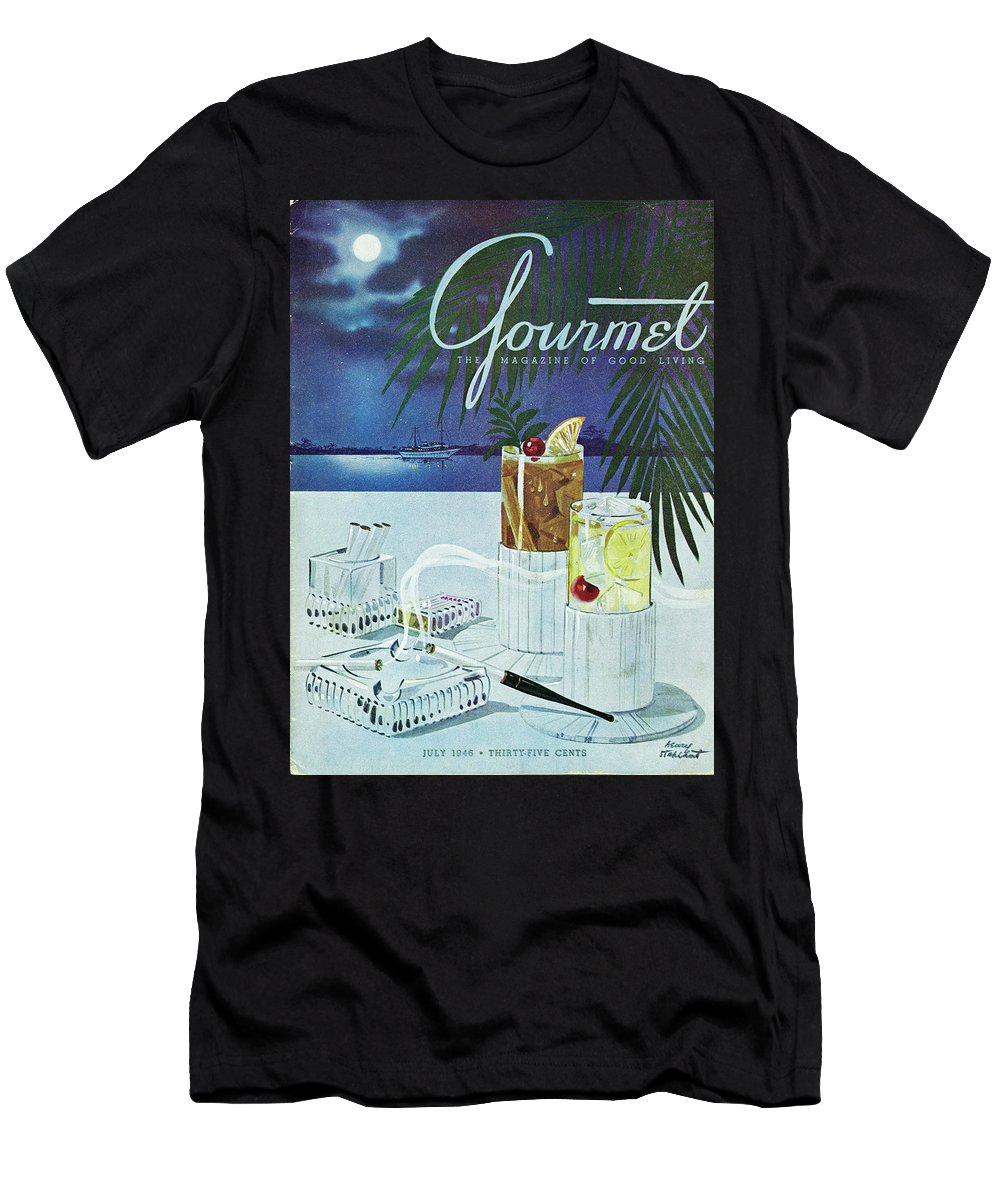 Boat T-Shirt featuring the photograph Gourmet Cover Of Cocktails by Henry Stahlhut