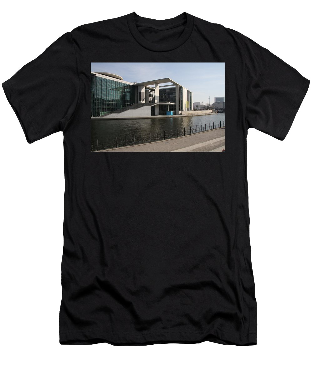 Government Building Men's T-Shirt (Athletic Fit) featuring the photograph Government Building Berlin by Christiane Schulze Art And Photography
