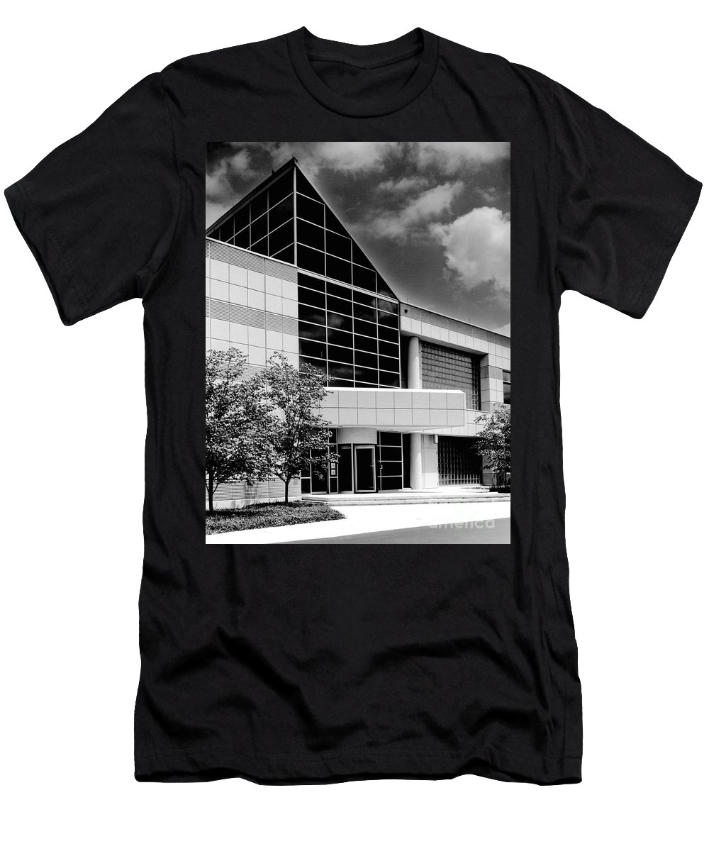 Gary Gingrich Men's T-Shirt (Athletic Fit) featuring the photograph Government Entrance by Gary Gingrich Galleries