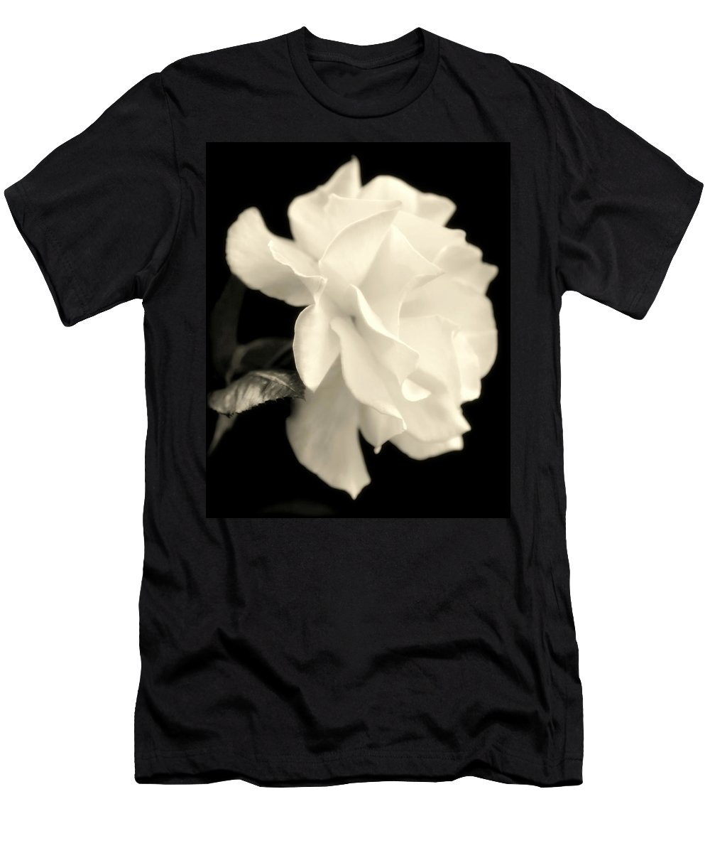 White Rose Men's T-Shirt (Athletic Fit) featuring the photograph Grace Of Creation by Karen Wiles
