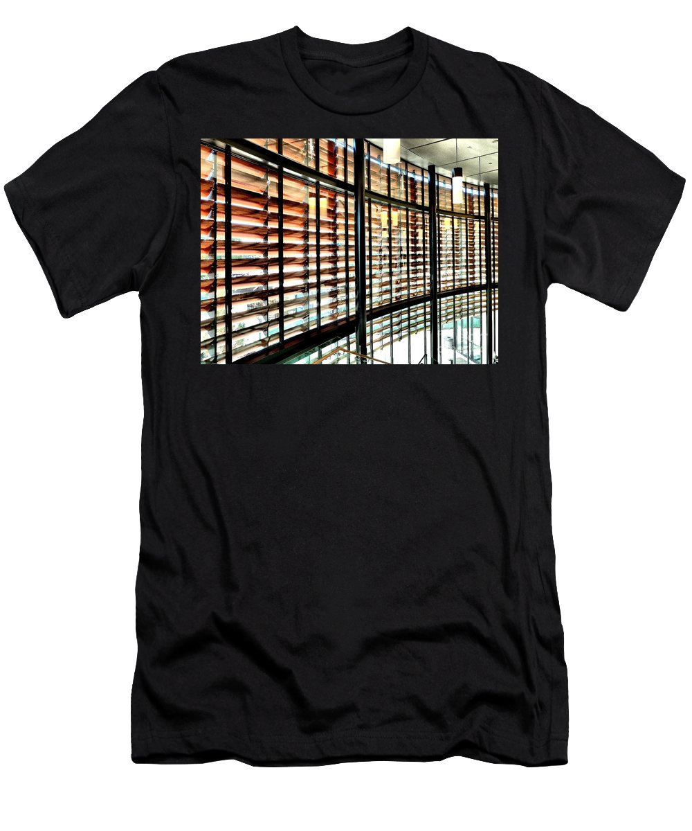 Abstract Men's T-Shirt (Athletic Fit) featuring the photograph Grading On The Curve by Lauren Leigh Hunter Fine Art Photography