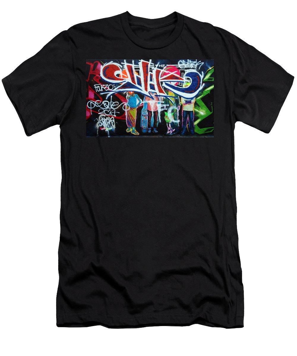 Graffiti Men's T-Shirt (Athletic Fit) featuring the photograph Graffiti Art by David Pantuso