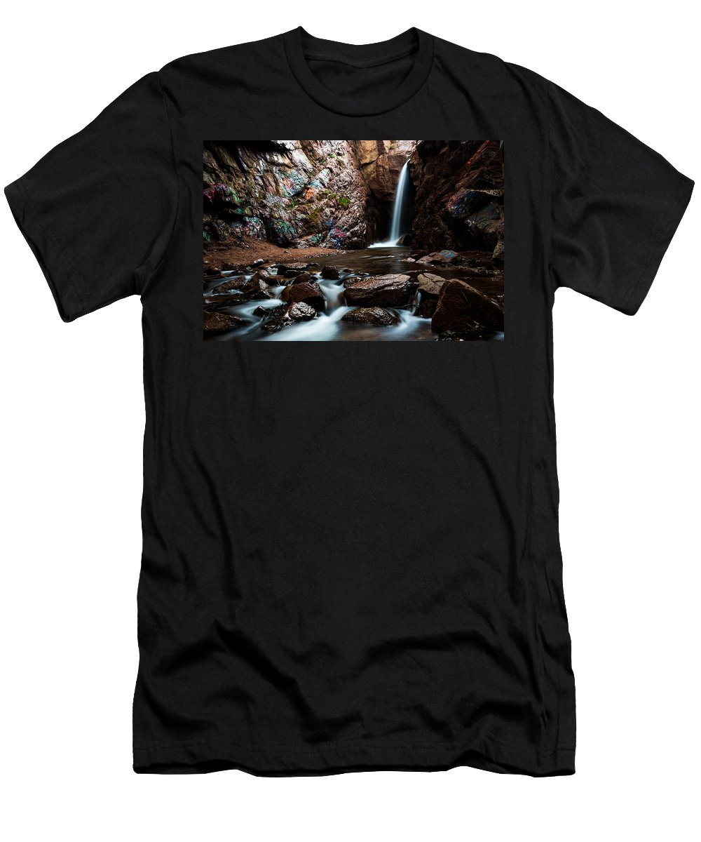 Waterfall Men's T-Shirt (Athletic Fit) featuring the photograph Graffiti Falls by Craig Forhan