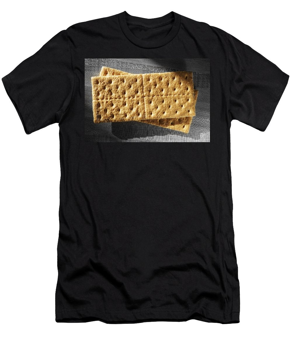 Crackers Men's T-Shirt (Athletic Fit) featuring the photograph Graham Crackers by Donald Erickson