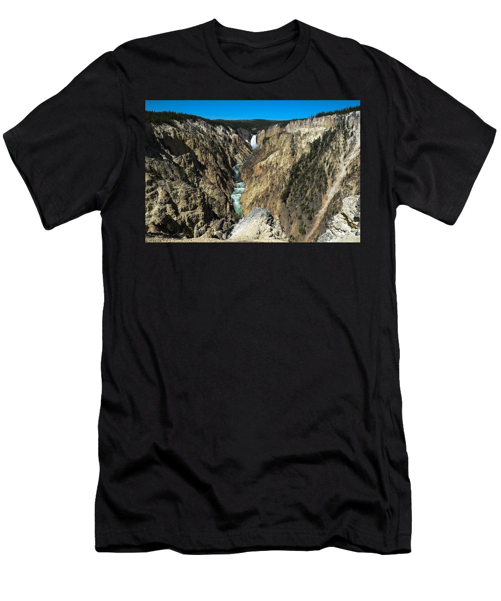 Grand Canyon Of Yellowstone Men's T-Shirt (Athletic Fit) featuring the photograph Grand Canyon Of Yellowstone by Gales Of November