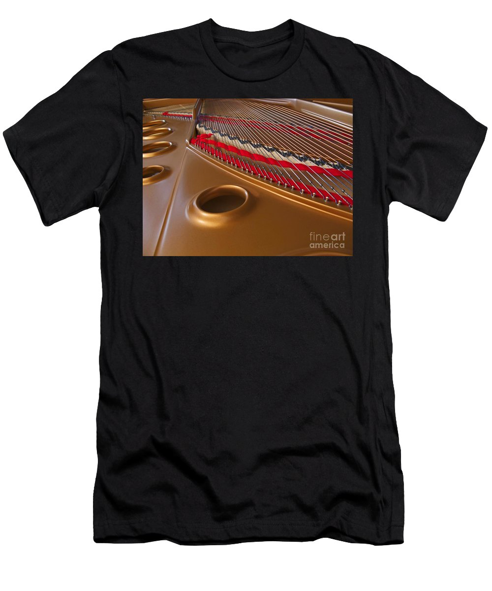 Piano Men's T-Shirt (Athletic Fit) featuring the photograph Grand Piano by Ann Horn
