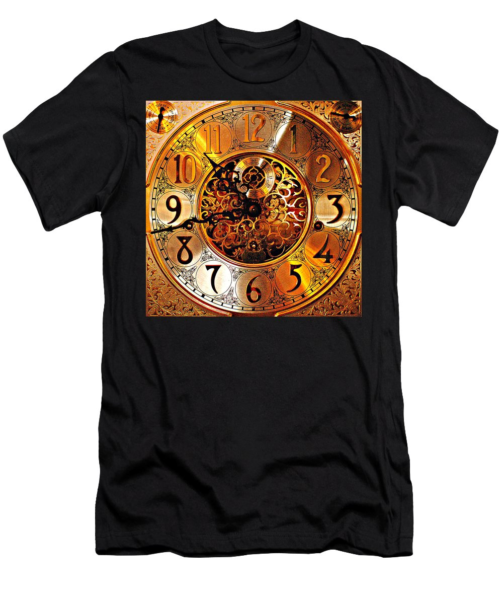 Hdr Men's T-Shirt (Athletic Fit) featuring the photograph Grandfather Time Hdr by Frozen in Time Fine Art Photography