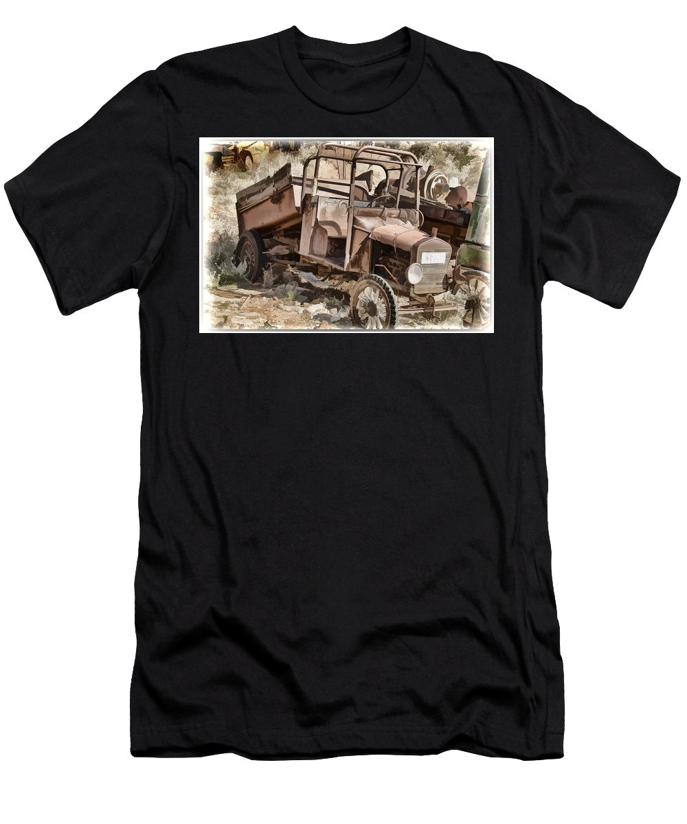 Truck Men's T-Shirt (Athletic Fit) featuring the photograph Grandpas Pick-up by Jon Berghoff