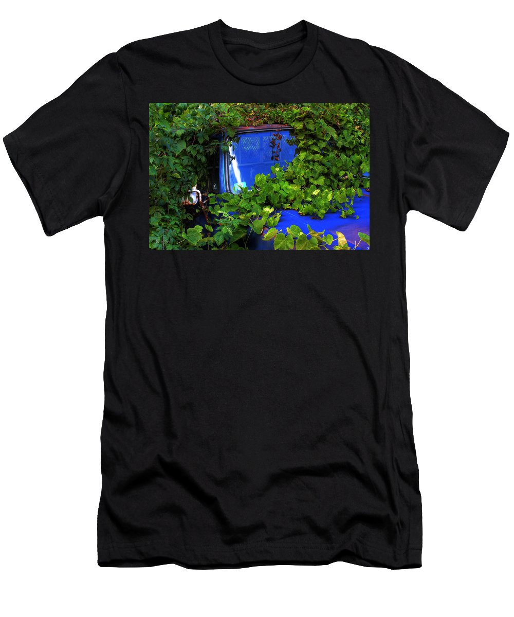 Grape Men's T-Shirt (Athletic Fit) featuring the photograph Grapes Eat Truck by Wayne King