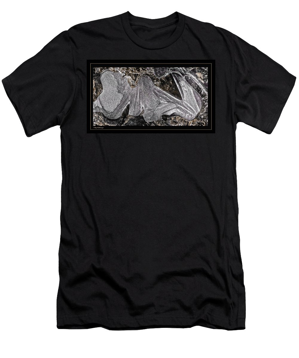 Ice Men's T-Shirt (Athletic Fit) featuring the photograph Graphic Ice by Lucy VanSwearingen
