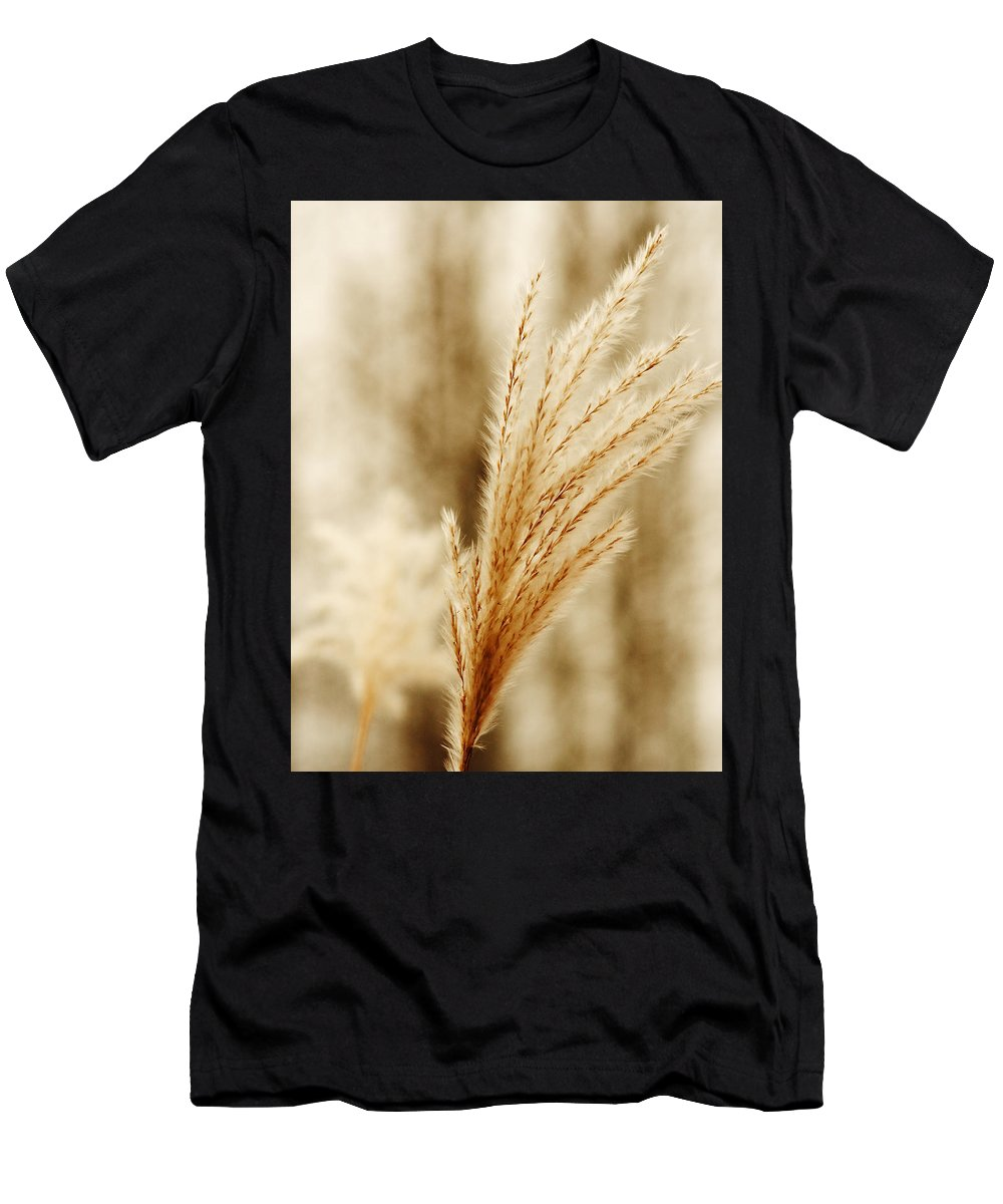 Grass Men's T-Shirt (Athletic Fit) featuring the photograph Grass by Roman Aj