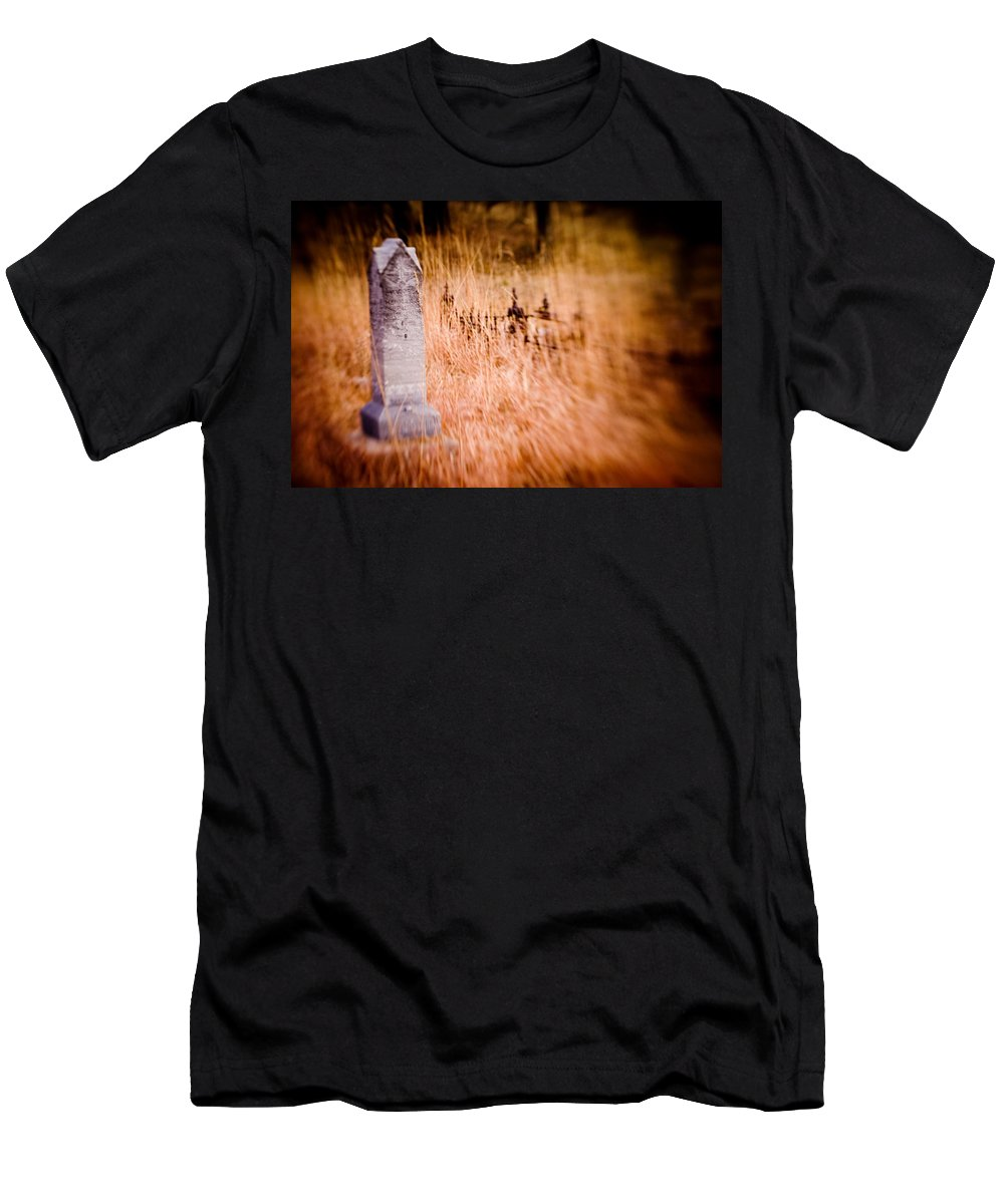 Color Men's T-Shirt (Athletic Fit) featuring the photograph Graveyard 6792 by Timothy Bischoff