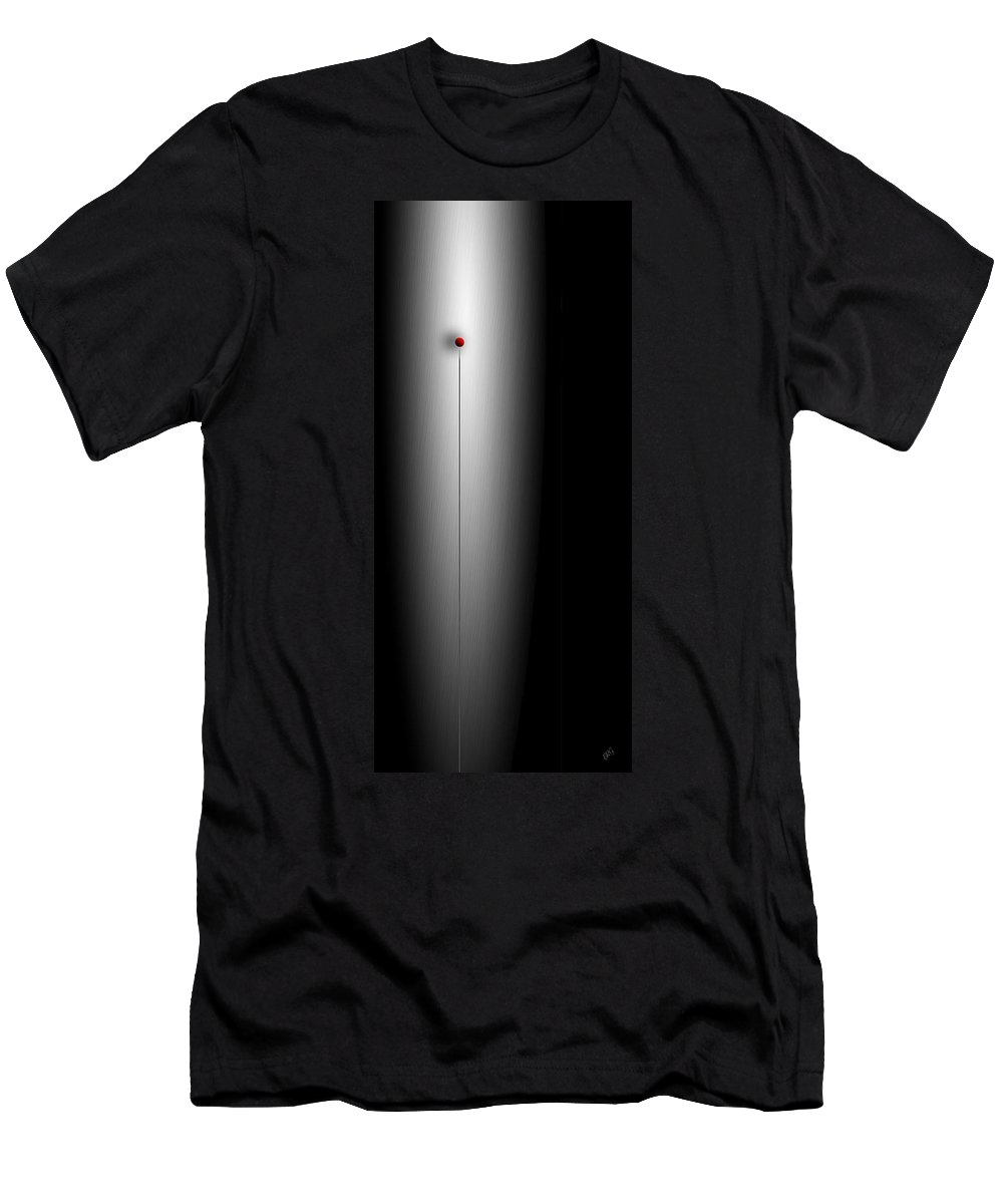 Geometric Abstract Men's T-Shirt (Athletic Fit) featuring the digital art Gravity Rules II by Ben and Raisa Gertsberg
