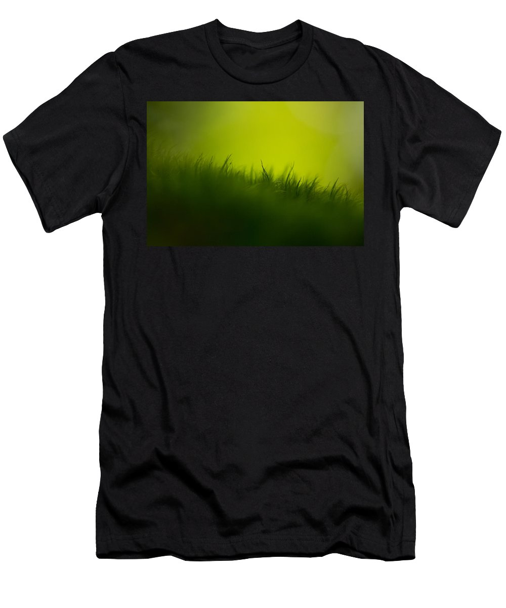 Green Men's T-Shirt (Athletic Fit) featuring the photograph Gravity by Shane Holsclaw