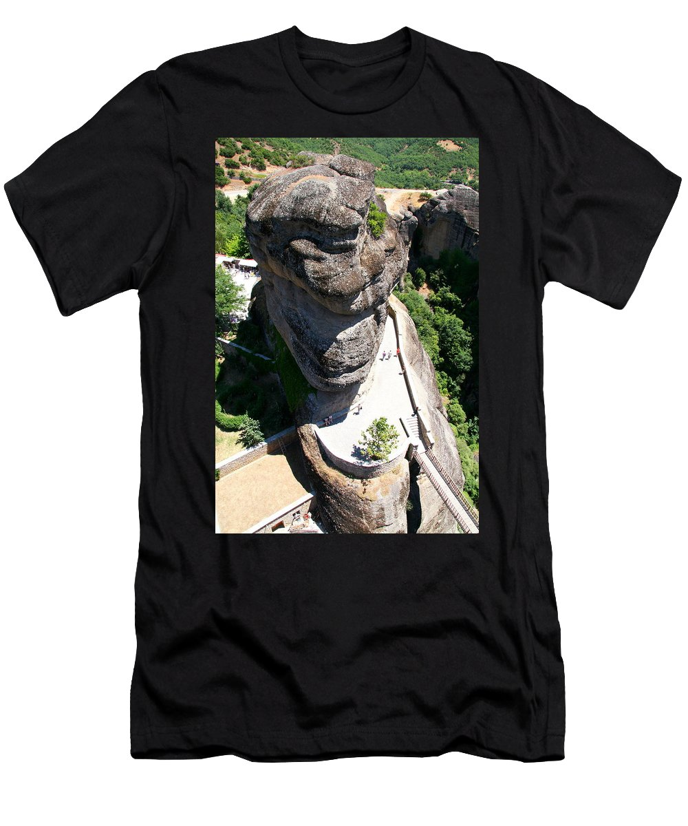 Men's T-Shirt (Athletic Fit) featuring the photograph Greece-meteora by Alexandros Petrides