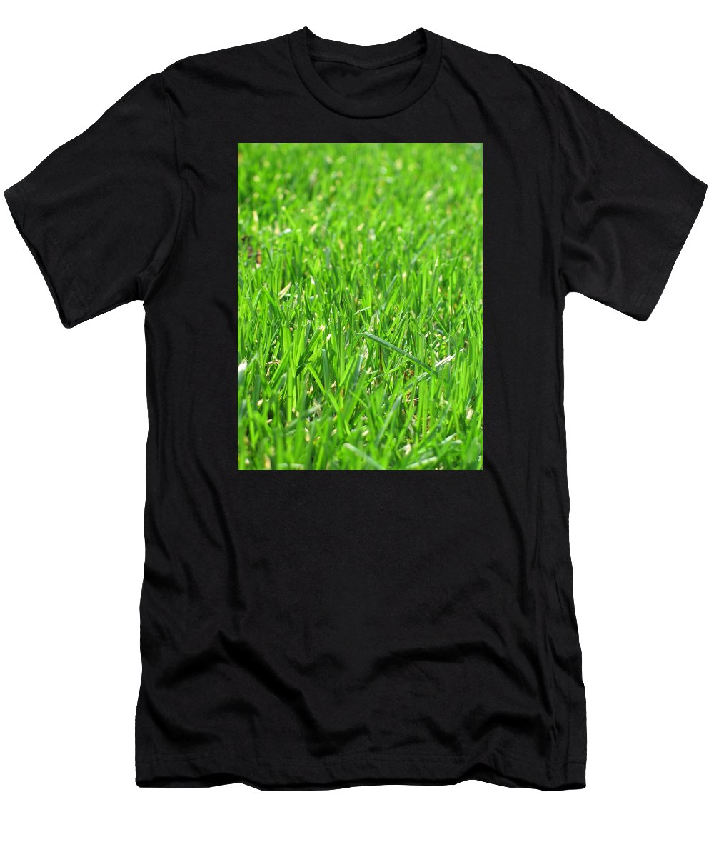 Grass Men's T-Shirt (Athletic Fit) featuring the photograph Green Grass by FL collection