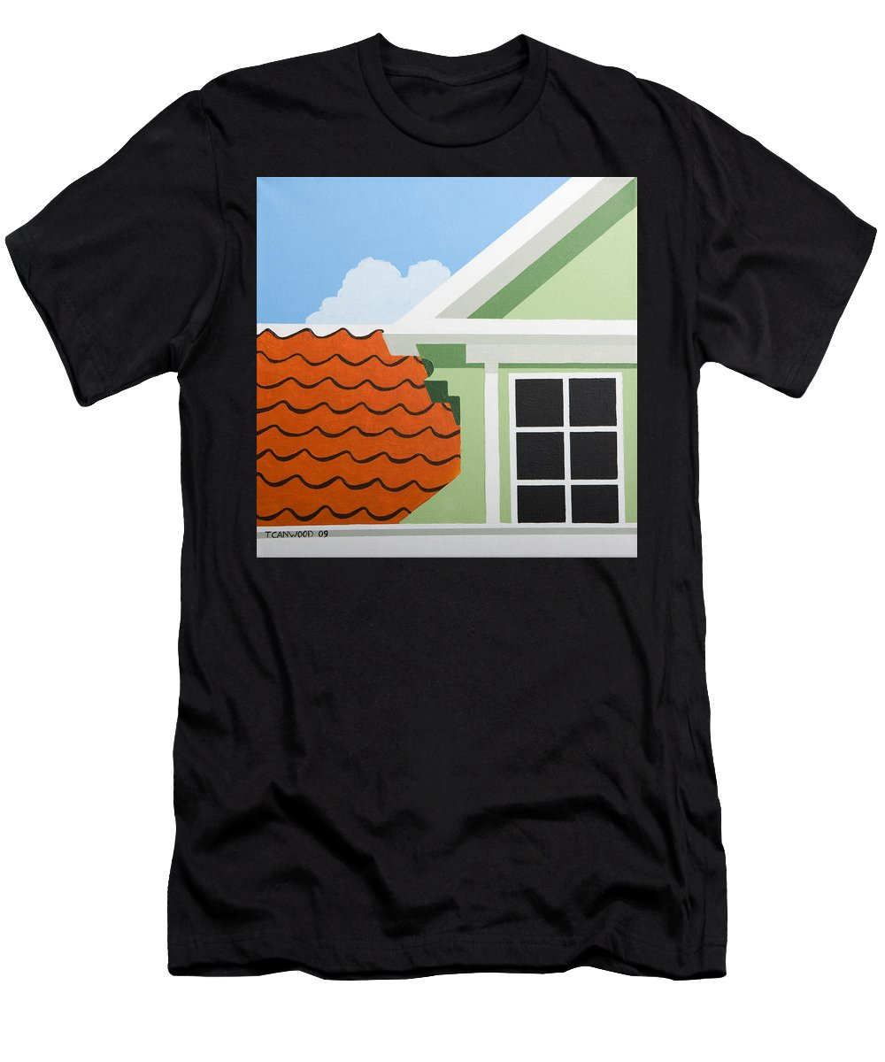Painting Men's T-Shirt (Athletic Fit) featuring the painting Green House by Trudie Canwood
