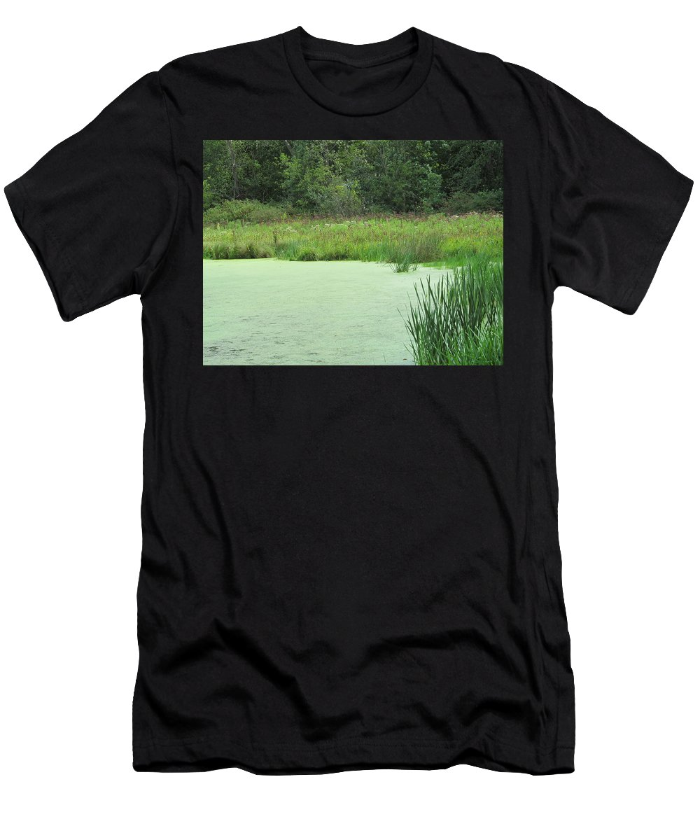 Lake Men's T-Shirt (Athletic Fit) featuring the photograph Green Moss by Tina M Wenger