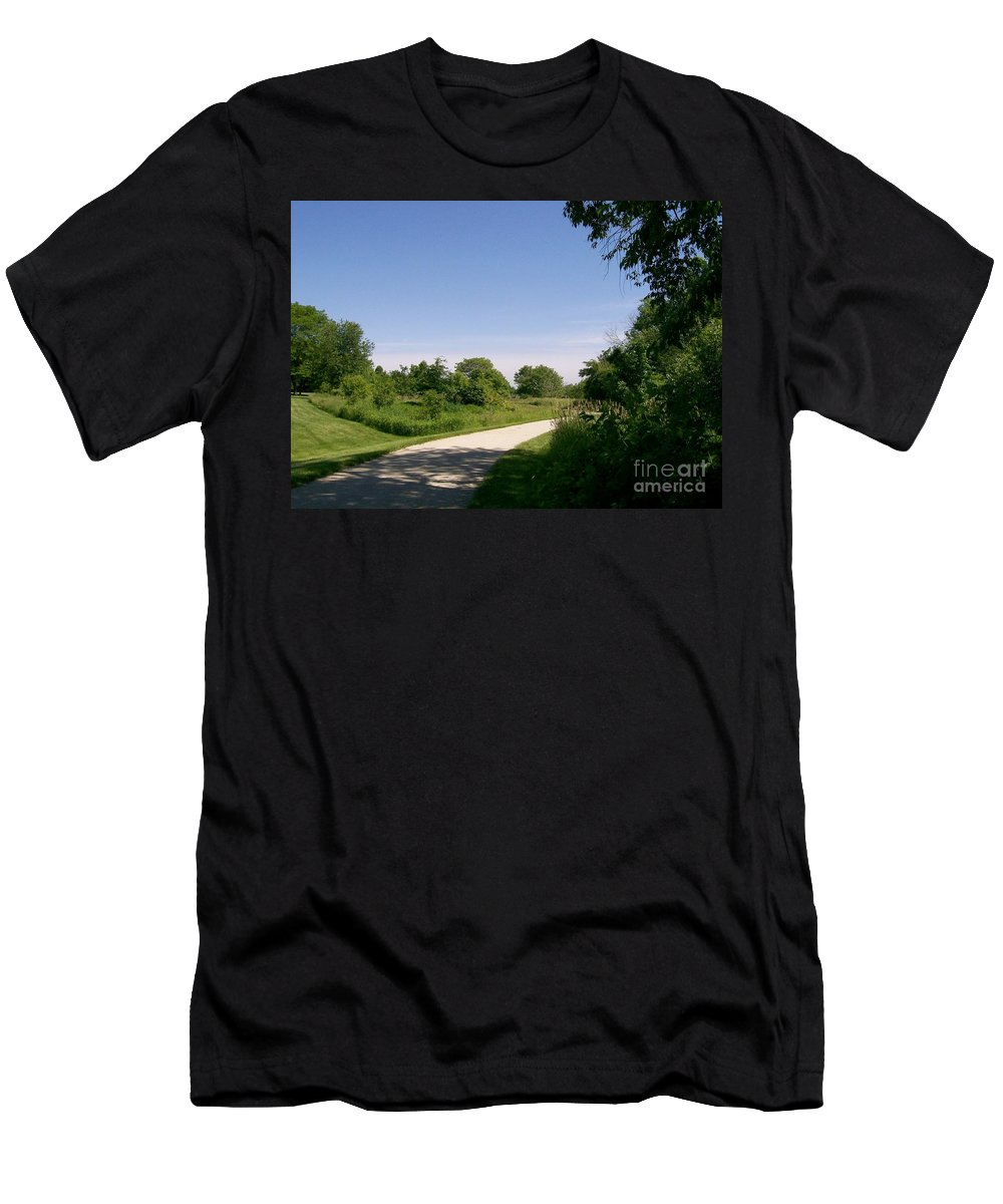 Greene Valley Men's T-Shirt (Athletic Fit) featuring the photograph Greene Valley Trail by Laurie Eve Loftin