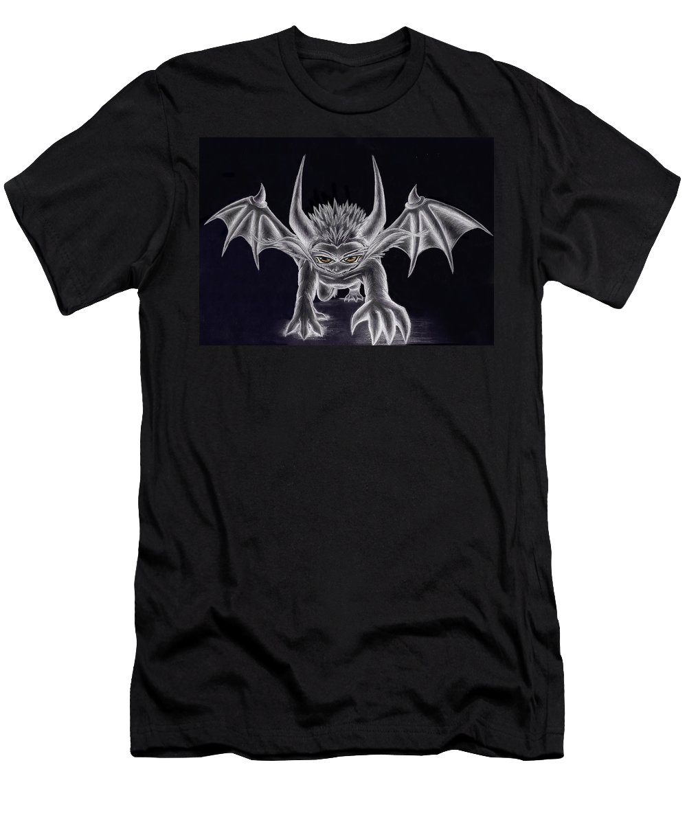 Demon Men's T-Shirt (Athletic Fit) featuring the painting Grevil Silvered by Shawn Dall