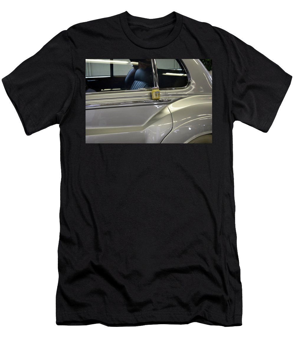 Rolls Royce Men's T-Shirt (Athletic Fit) featuring the photograph Grey Poupon And Rolls Royce by Kathy Barney