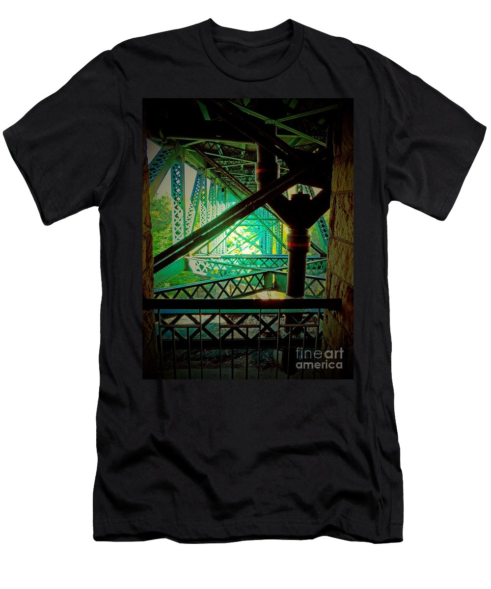 Gridwork Men's T-Shirt (Athletic Fit) featuring the photograph Gridwork by Desiree Paquette