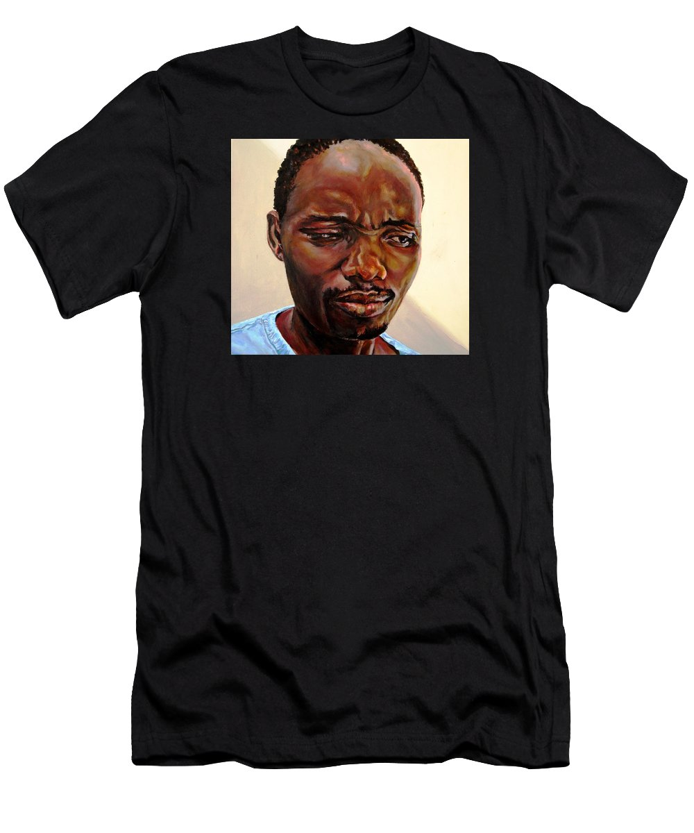 Grief Men's T-Shirt (Athletic Fit) featuring the painting Grief by Jolante Hesse