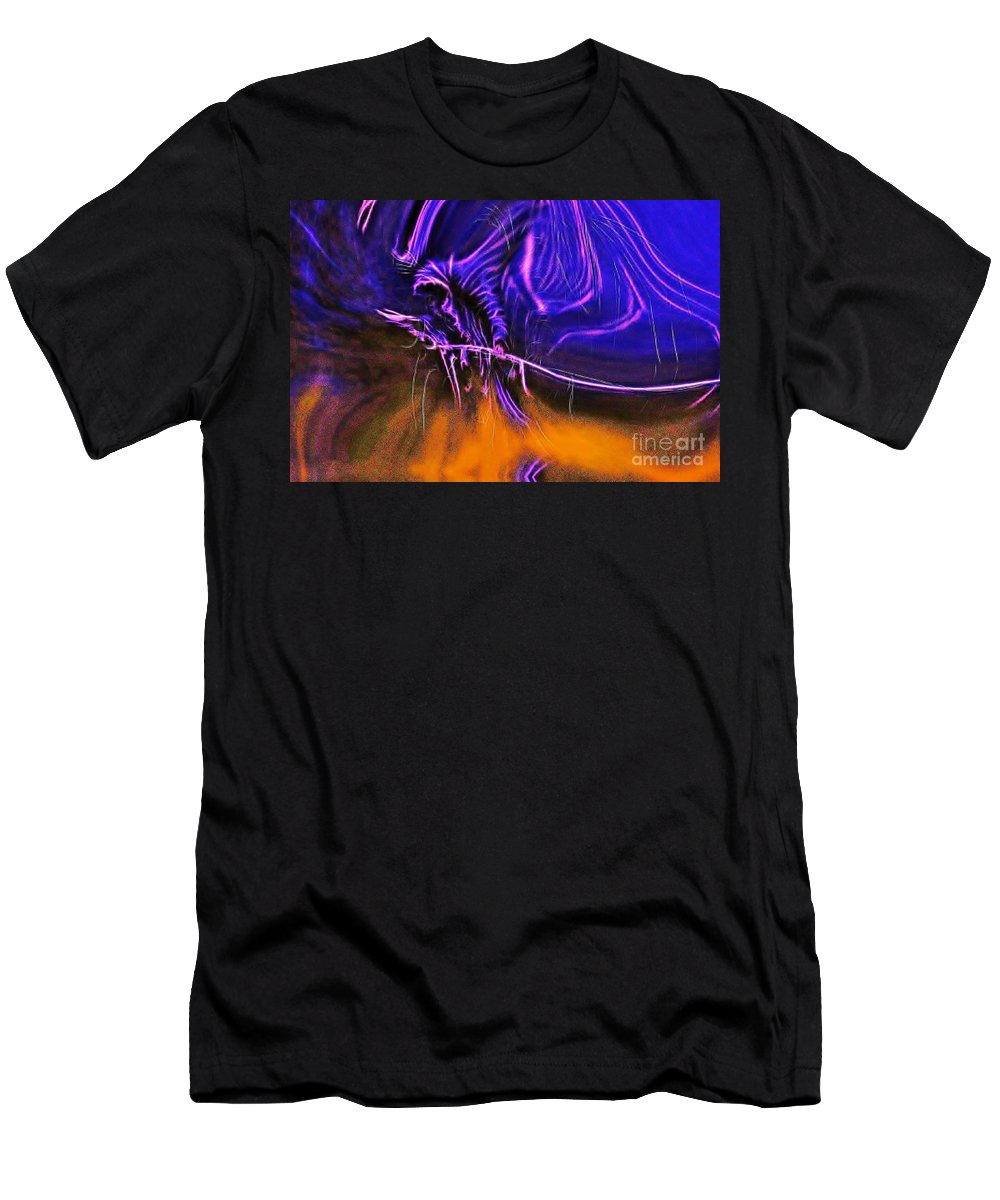 Blair Stuart Men's T-Shirt (Athletic Fit) featuring the digital art Grim Reaper In Abstract by Blair Stuart