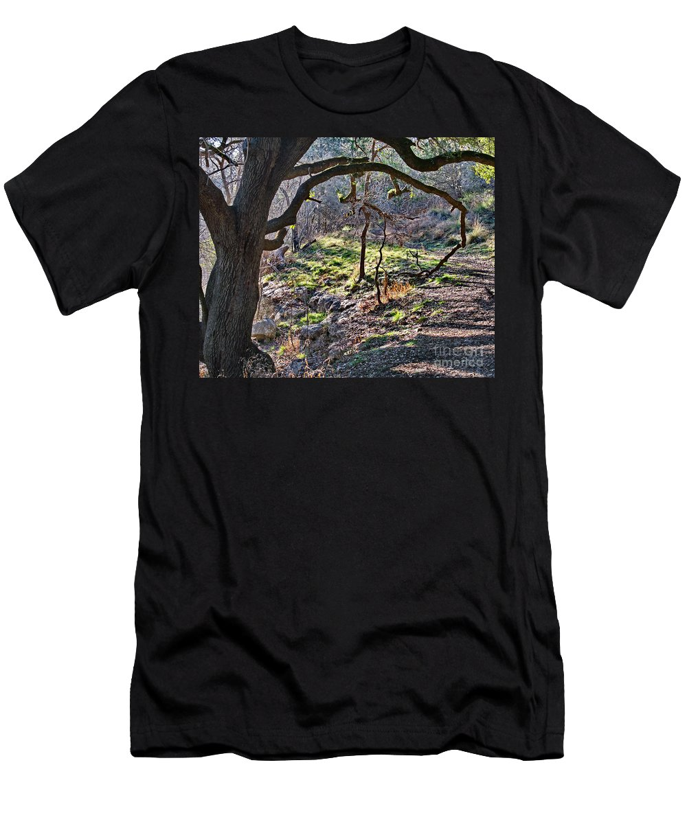 Guadalupe State Park Men's T-Shirt (Athletic Fit) featuring the photograph Guadalupe State Park by Gary Richards