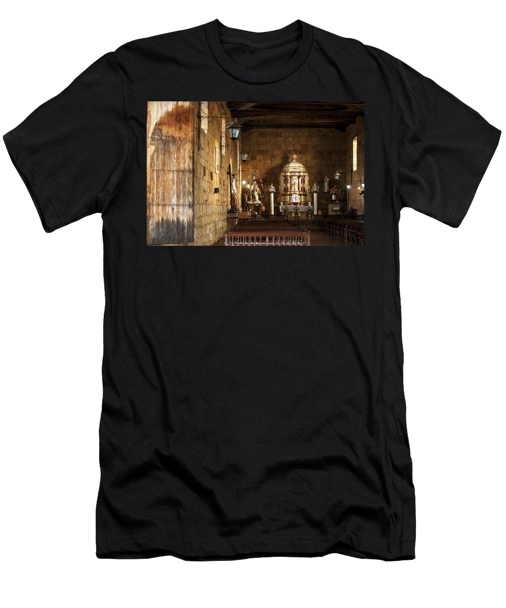 Religion Men's T-Shirt (Athletic Fit) featuring the photograph Guane Church by Jess Kraft