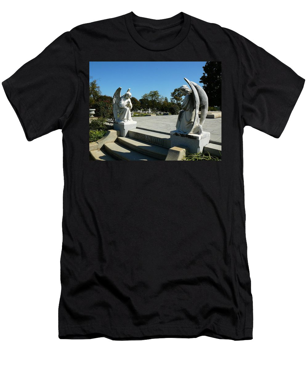 Virginia Men's T-Shirt (Athletic Fit) featuring the photograph Guardian Angels by Two Bridges North
