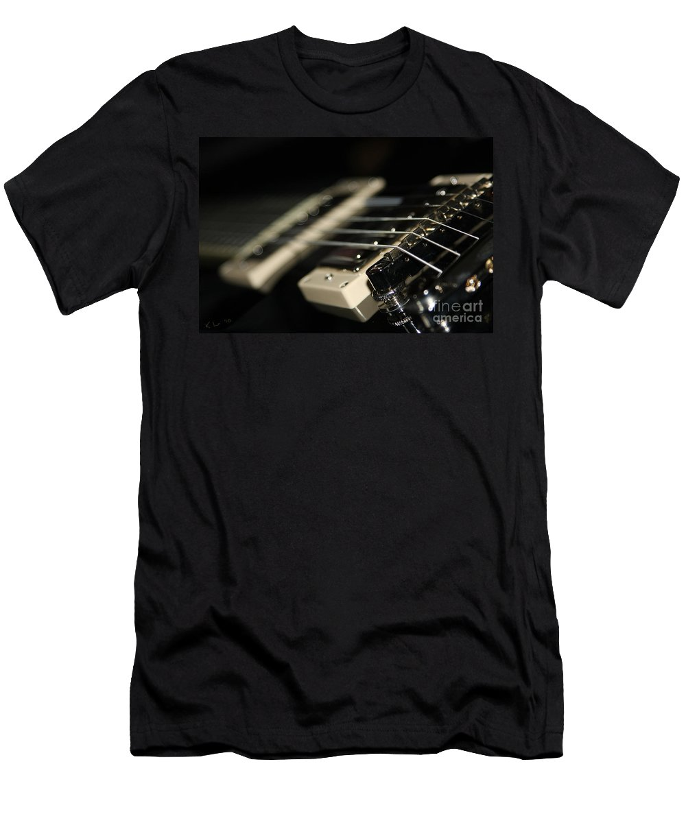Guitar Men's T-Shirt (Athletic Fit) featuring the photograph Guitar Glance by Karol Livote