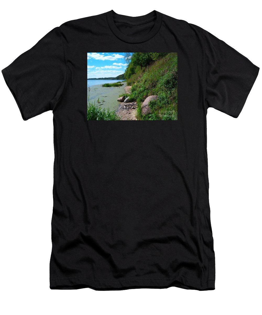 Landscape Men's T-Shirt (Athletic Fit) featuring the photograph Guogu Mound by Loreta Mickiene