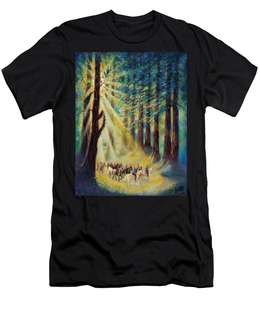 Gypsies Men's T-Shirt (Athletic Fit) featuring the painting Gypsy Caravan by Raffi Jacobian
