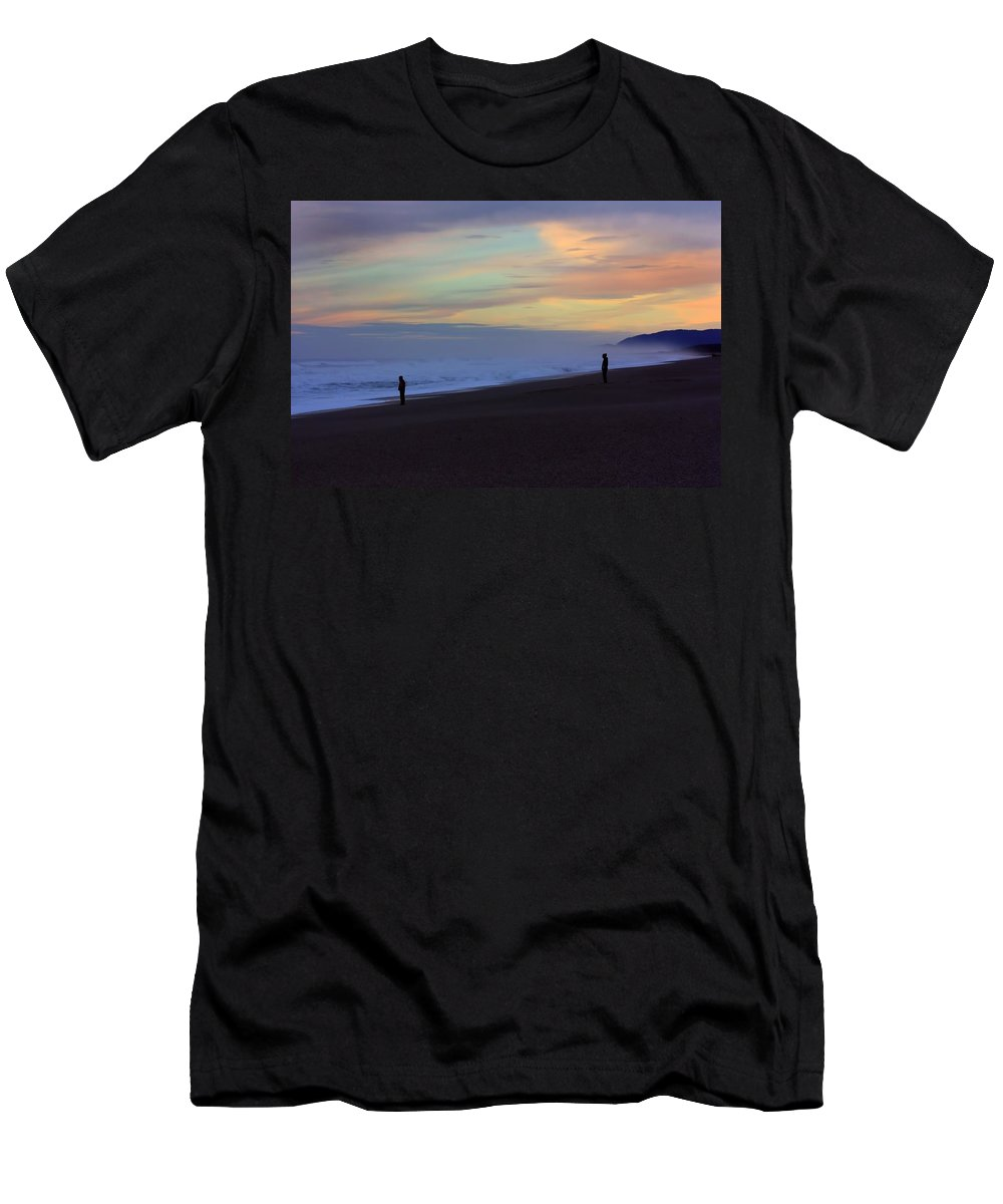 Beach Men's T-Shirt (Athletic Fit) featuring the photograph Haast Beach by Amanda Stadther