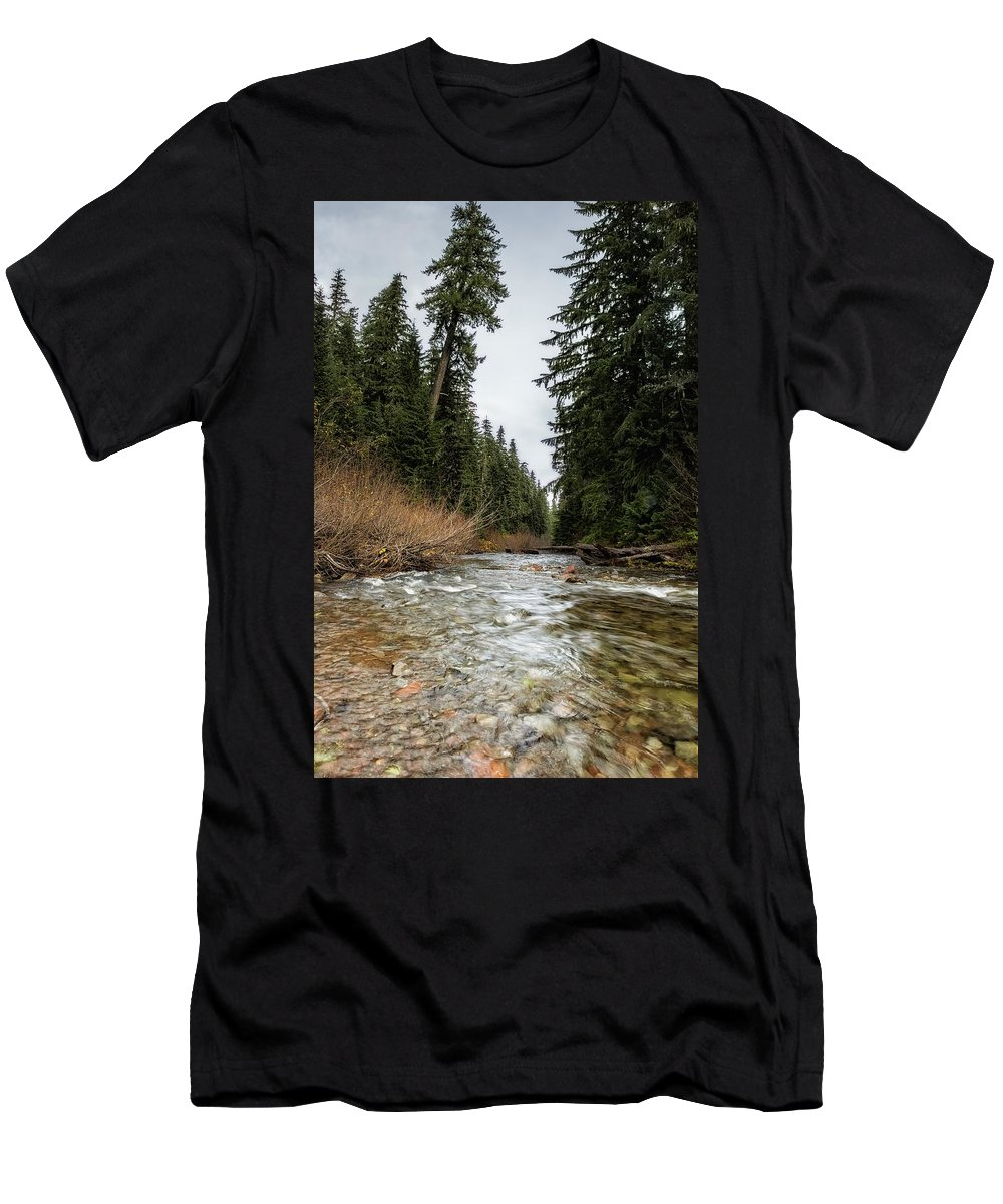 Hackleman Creek Men's T-Shirt (Athletic Fit) featuring the photograph Hackleman Creek by Belinda Greb