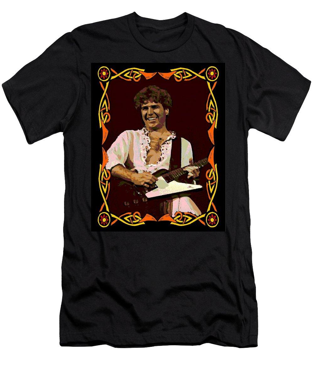 Sammy Hagar Men's T-Shirt (Athletic Fit) featuring the photograph Hagar Art 2 by Ben Upham